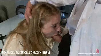 trussed blondie experiencing sexual wishes to.