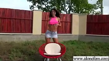 jaw-dropping solo damsel olivia crimson-hot on camera put.