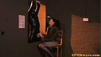 cfnm stunners tugging and deepthroating marionette.