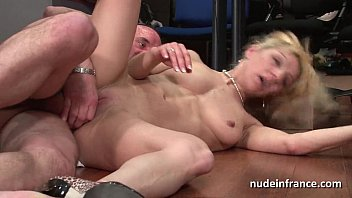 very first-timer mature blond anal foray humped rock-hard.