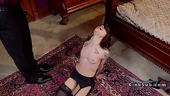 nubile sub gets waxed and lashed