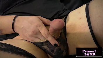 obese femboy rectally railing faux penis