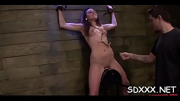 confined tart gets huiliated as she is compelled.