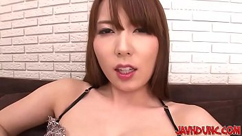 ultra-cute japanese damsels have fun herself with finger.