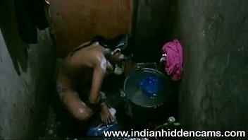 bangladeshi indian youthful nymph taking douche