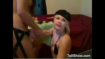ultra-cute blondie girl-on-girl drilled by a.