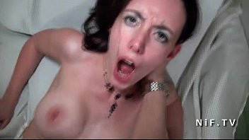 fledgling enormous-boobed french dark-haired ripped up firm and.