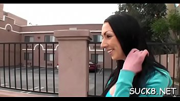 skillful stud entices honey from the street to.