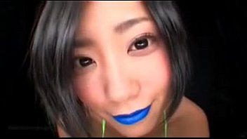 japanese blue lip liner slobbering-fetish