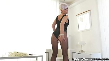euro cougar kathy milky gropes her.